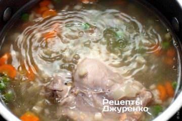 Витягнути курку з супу
