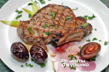 Фото рецепта отбивная из свинины на гриле