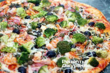 Пицца с креветкой