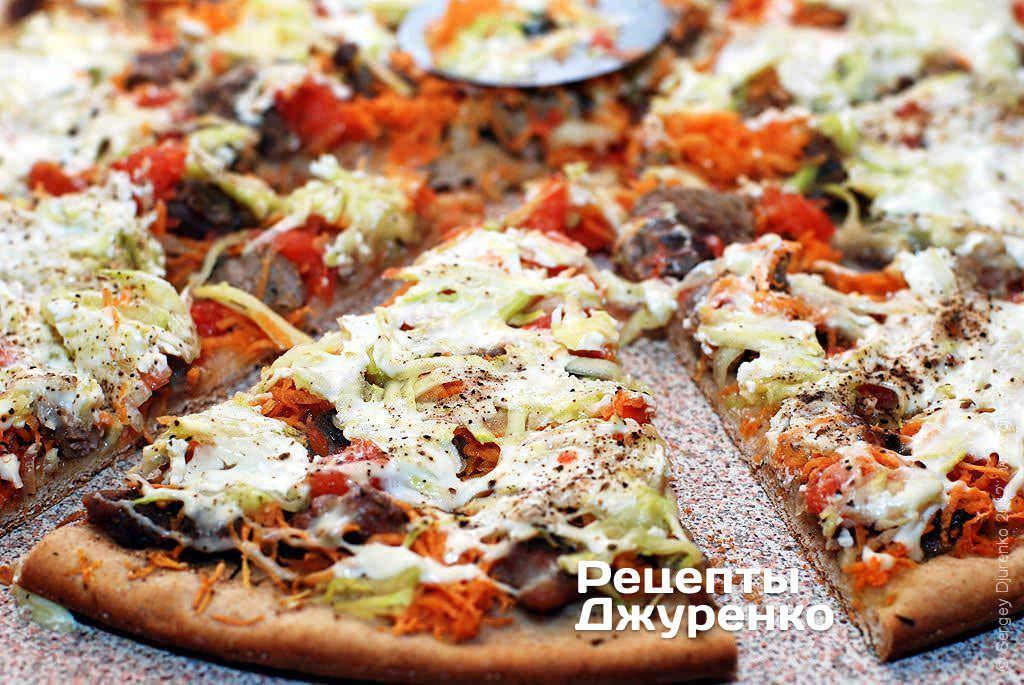 піца з індичкою фото рецепту