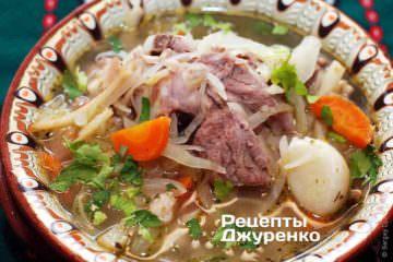 Суп з капустою