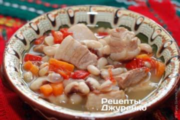 Фото рецепта фасолевый суп без картошки