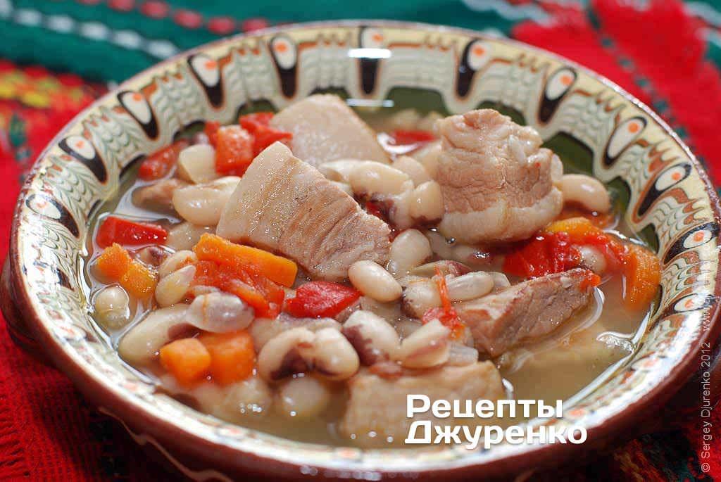 Суп фасолевый со свининой рецепт с фото