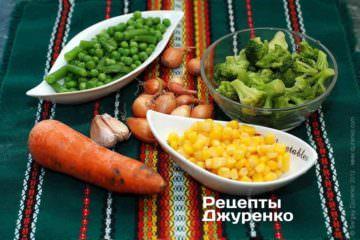 Інгредієнти: рис та овочі