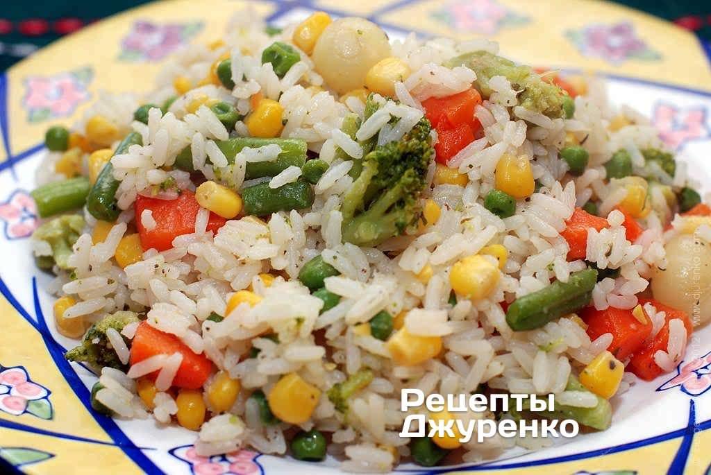 Гарнир с овощами рецепты