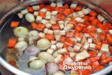 Отварить овощи до готовности