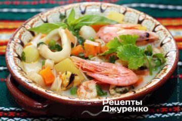 Фото рецепта суп из морепродуктов