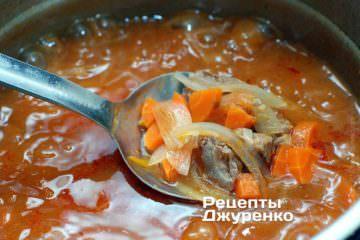 Как приготовить Суп харчо. Шаг 18: Рис добавляем