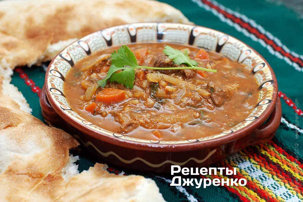 Kharcho soup — the best Georgian soup from beef and tkemali