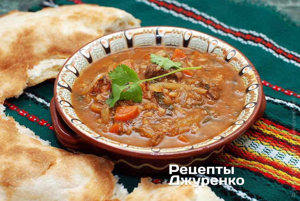 Soup kharcho — Georgian beef soup
