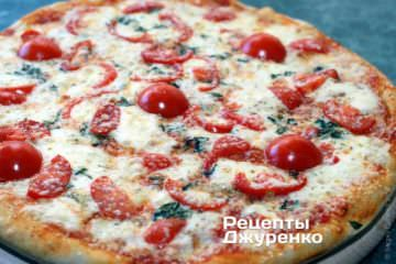 Фото к рецепту: пицца с помидорами