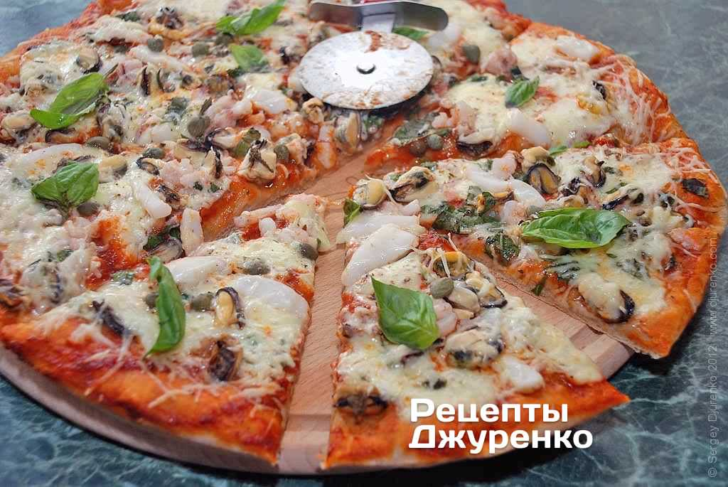 Рецепты пиццы из морепродуктов