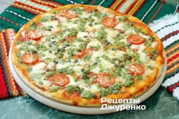 Пицца с базиликом