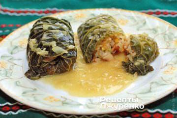 Фото рецепта голубці — морепродукти в капусті