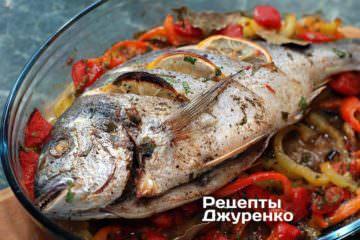 Випікати до готовності риби