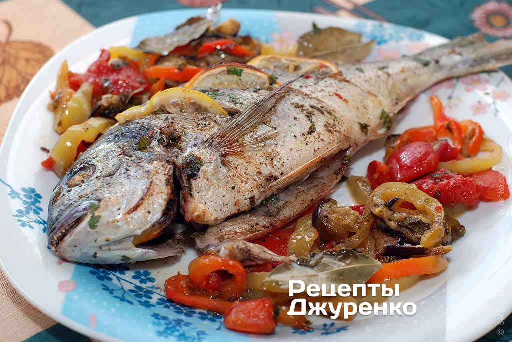 дорадо с овощами в духовке в фольге рецепт с фото