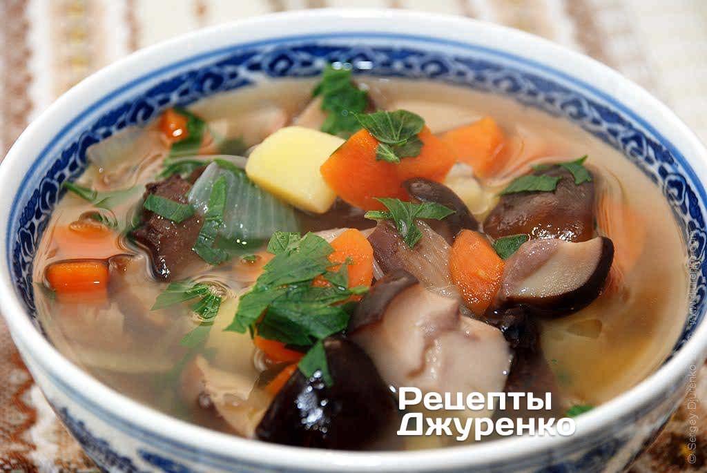 Как варить суп с белым грибами