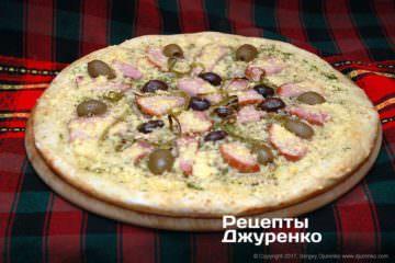 Фото рецепта пицца без помидоров