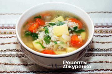 Фото до рецепту: рисовий суп