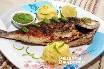 Риба з шпинатом