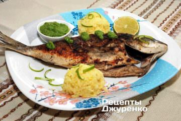 Фото до рецепту: риба з шпинатом