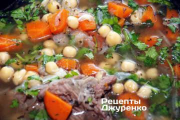 Варити суп до готовності нуту
