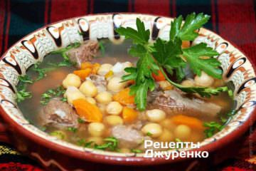Фото до рецепту: суп з нутом