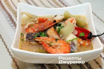 Фото до рецепту: суп з рибою та фенхелем