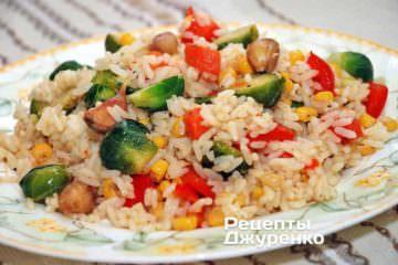 рис с овощами, овощной гарнир, гарнир с рисом, вегетарианская кухня