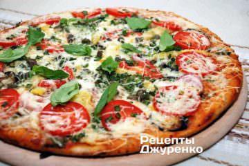 Фото до рецепту: овочева піца
