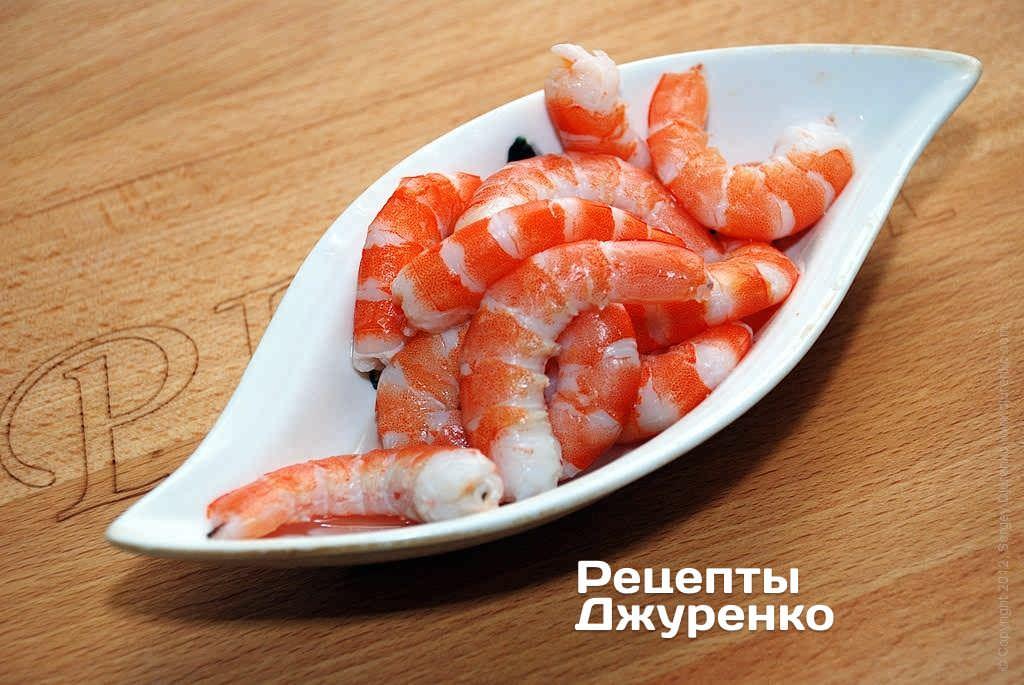 Очищенные креветки рецепт фото
