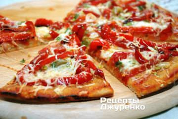 Фото рецепта пицца с перцем