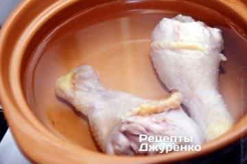 сварить куриный бульон