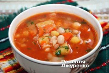 Густий суп з квасолею