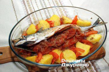 Запечь фаршированную рыбу в духовке