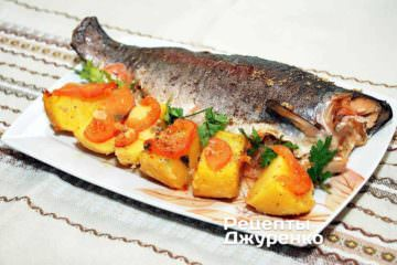 как запечь форель, форель в духовке, запеченная рыба