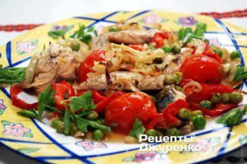 овощи запеченные с рыбой