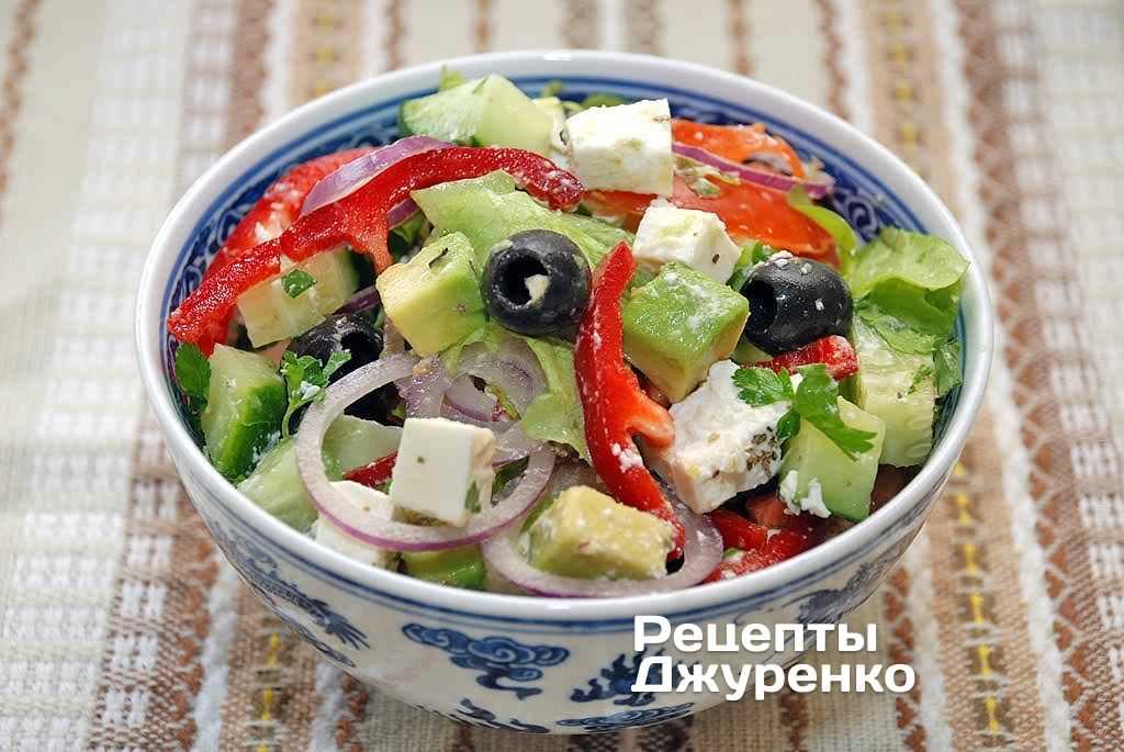 Овощной салат с авокадо рецепт