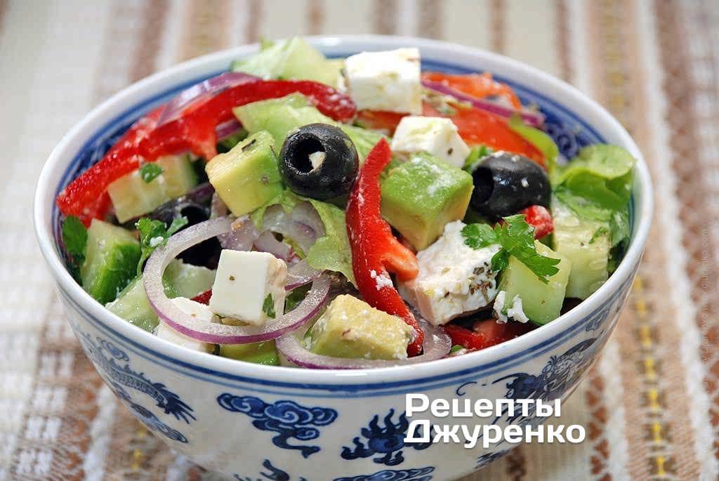 простые рецепты с оливками салат