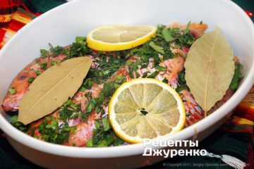 Залить рыбу вином