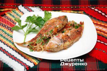 Фото до рецепту: риба запечена з овочами