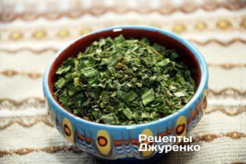 Сухарики с зеленью