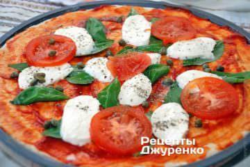 Розкласти кружечки помідора