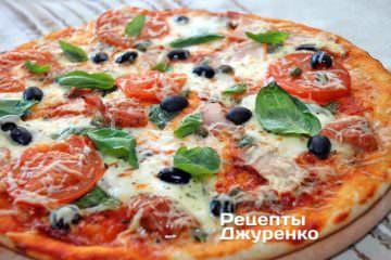 Фото рецепта пицца с копченой курицей