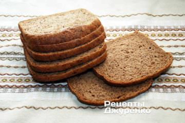 Для ржаных сухариков нужен настоящий ржаной хлеб