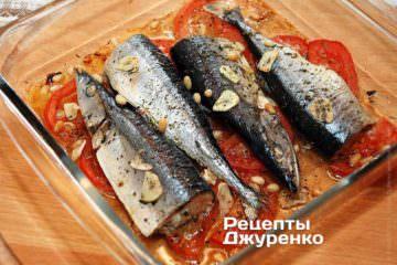 Поставить рыбу в духовку