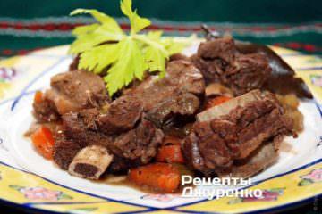 Фото рецепта тушеная говядина