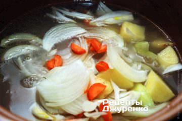 Додасть всі підготовлені овочі