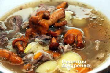 Суп из лисичек - лучший грибной суп начала лета