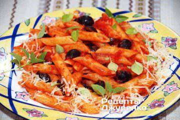 Фото рецепта паста с томатами